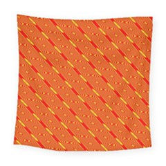 Orange Pattern Background Square Tapestry (large) by Nexatart