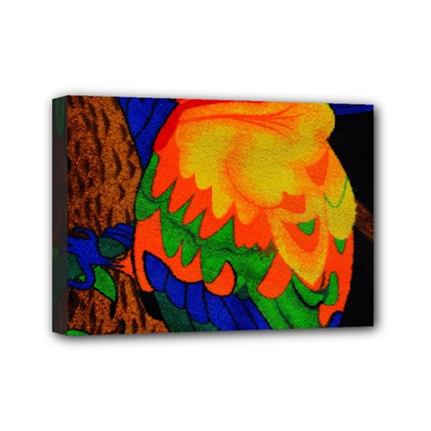 Parakeet Colorful Bird Animal Mini Canvas 7  X 5  by Nexatart