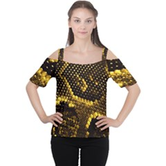 Pattern Skins Snakes Women s Cutout Shoulder Tee
