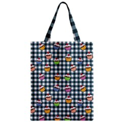 Cupcakes Plaid Pattern Classic Tote Bag by Valentinaart