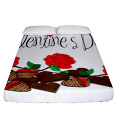 Valentine s Day Gift Fitted Sheet (king Size) by Valentinaart