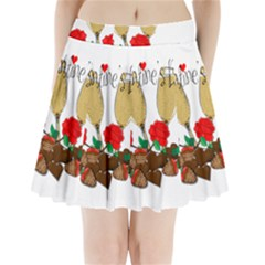Valentine s Day Romantic Design Pleated Mini Skirt by Valentinaart
