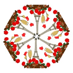 Romance In Paris Mini Folding Umbrellas by Valentinaart