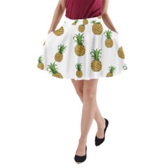 Pineapples Pattern A Line Pocket Skirt by Valentinaart