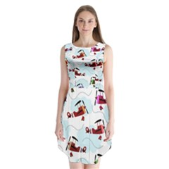 Airplanes Pattern Sleeveless Chiffon Dress   by Valentinaart