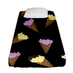 Ice Cream Cute Pattern Fitted Sheet (single Size) by Valentinaart