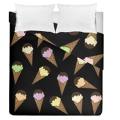 Ice Cream Cute Pattern Duvet Cover Double Side (queen Size) by Valentinaart