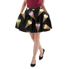 Ice Cream Cute Pattern A Line Pocket Skirt by Valentinaart