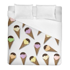 Ice Cream Pattern Duvet Cover (full/ Double Size) by Valentinaart