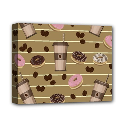Coffee And Donuts  Deluxe Canvas 14  X 11  by Valentinaart