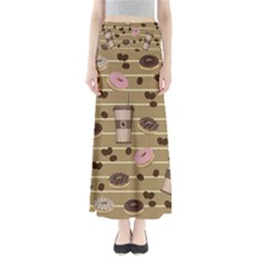 Coffee And Donuts  Maxi Skirts by Valentinaart
