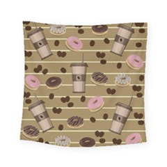 Coffee And Donuts  Square Tapestry (small) by Valentinaart