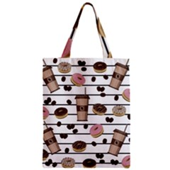 Donuts And Coffee Pattern Classic Tote Bag