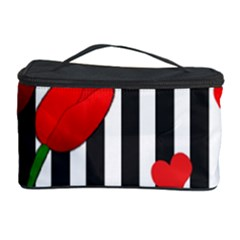 Tulips Cosmetic Storage Case by Valentinaart