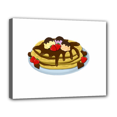 Pancakes   Shrove Tuesday Canvas 14  X 11  by Valentinaart