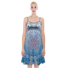 Pattern Background Pattern Tile Spaghetti Strap Velvet Dress