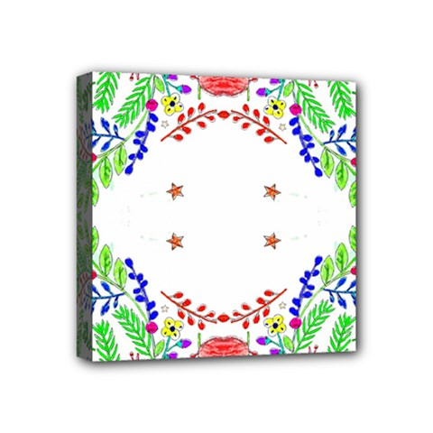 Holiday Festive Background With Space For Writing Mini Canvas 4  X 4  by Nexatart