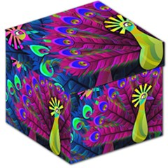 Peacock Abstract Digital Art Storage Stool 12