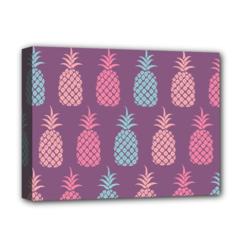 Pineapple Pattern  Deluxe Canvas 16  X 12   by Nexatart