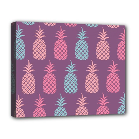 Pineapple Pattern  Deluxe Canvas 20  X 16   by Nexatart