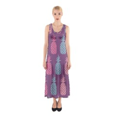 Pineapple Pattern  Sleeveless Maxi Dress by Nexatart