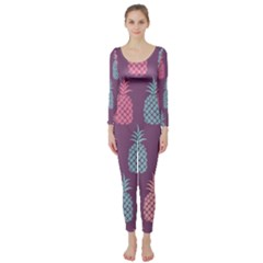 Pineapple Pattern  Long Sleeve Catsuit by Nexatart