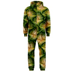 Pineapple Pattern Hooded Jumpsuit (men)  by Nexatart