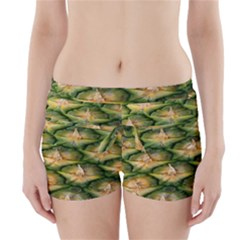Pineapple Pattern Boyleg Bikini Wrap Bottoms by Nexatart