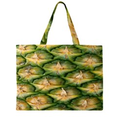 Pineapple Pattern Zipper Large Tote Bag by Nexatart