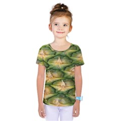 Pineapple Pattern Kids  One Piece Tee by Nexatart