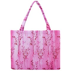 Pink Curtains Background Mini Tote Bag by Nexatart