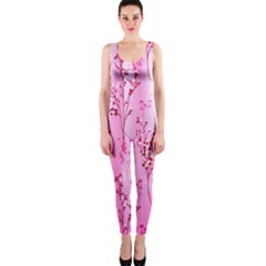 Pink Curtains Background Onepiece Catsuit