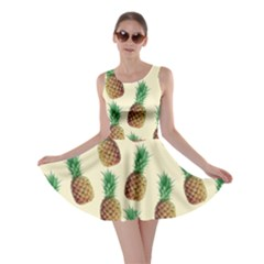 Pineapple Wallpaper Pattern Skater Dress