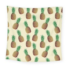 Pineapple Wallpaper Pattern Square Tapestry (large) by Nexatart
