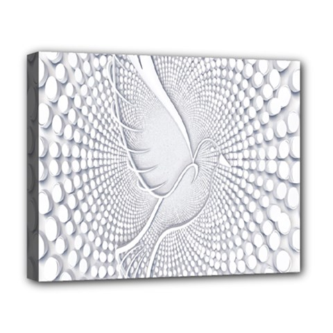 Points Circle Dove Harmony Pattern Deluxe Canvas 20  X 16   by Nexatart