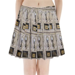 Post Office Old Vintage Building Pleated Mini Skirt by Nexatart