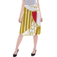 Coat Of Arms Of Egypt Midi Beach Skirt