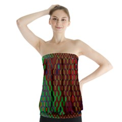 Psychedelic Abstract Swirl Strapless Top by Nexatart