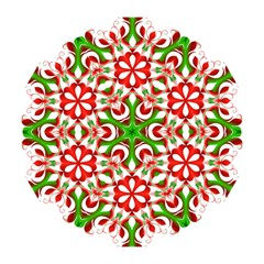 Red And Green Snowflake Mini Folding Umbrellas
