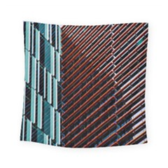 Red And Black High Rise Building Square Tapestry (small) by Nexatart