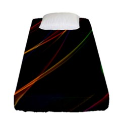 Rainbow Ribbons Fitted Sheet (single Size) by Nexatart