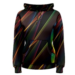 Rainbow Ribbons Women s Pullover Hoodie by Nexatart