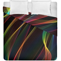 Rainbow Ribbons Duvet Cover Double Side (king Size) by Nexatart