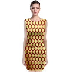 Red And Gold Effect Backing Paper Classic Sleeveless Midi Dress