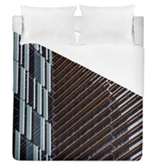 Red And Black High Rise Building Duvet Cover (queen Size) by Nexatart