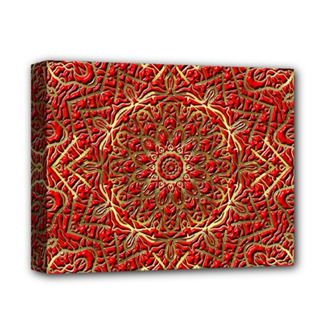 Red Tile Background Image Pattern Deluxe Canvas 14  X 11