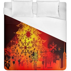 Red Silhouette Star Duvet Cover (king Size) by Nexatart