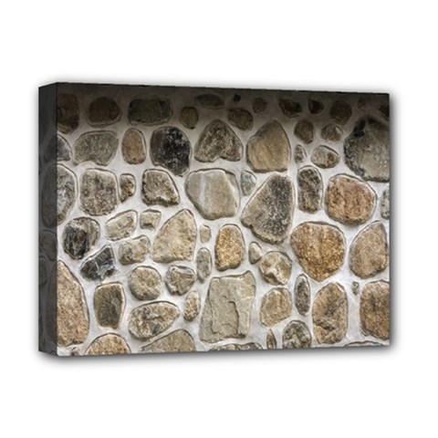 Roof Tile Damme Wall Stone Deluxe Canvas 16  X 12   by Nexatart