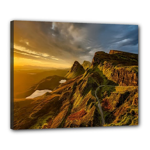 Scotland Landscape Scenic Mountains Canvas 20  X 16