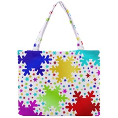 Seamless Snowflake Pattern Mini Tote Bag by Nexatart